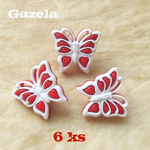 Knoflík Motýl - 6 ks
