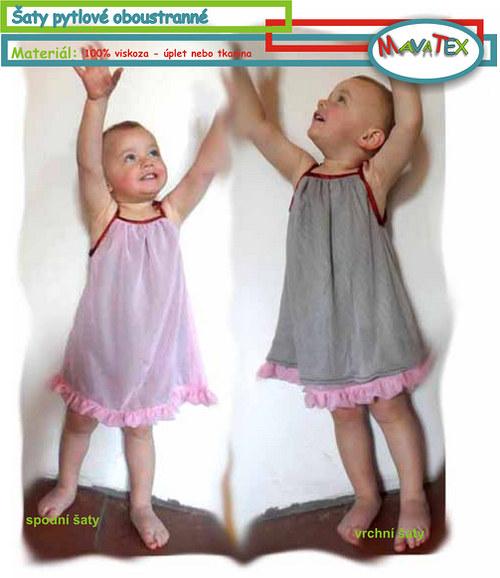 šaty oboustrané pytlové