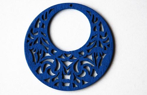 Dřevěné kolečko - sv. modré