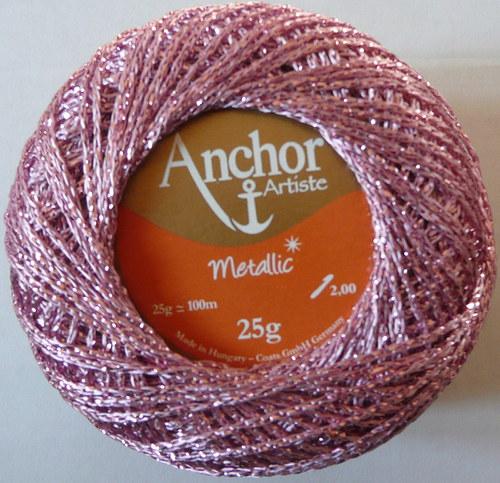 Anchor Artiste Metallic - růžová světlá