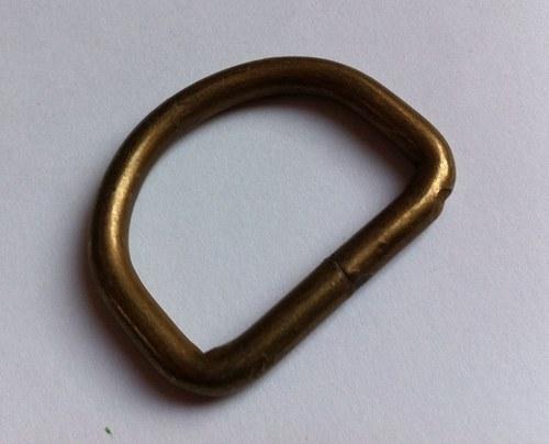 Polokroužek kovový 4 cm mosaz