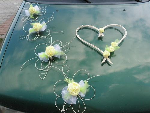 Svatební dekorace - žlutozelená