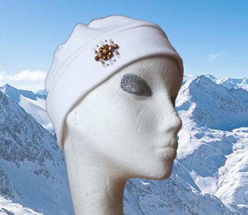 Čepice Ice Zlatá a bílá