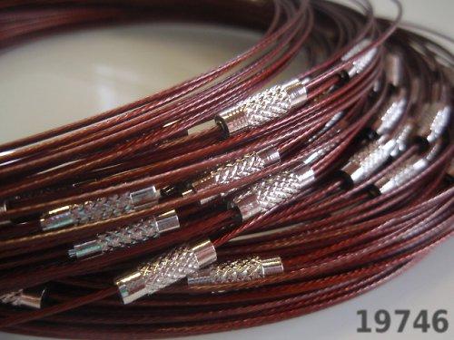 19746-B24 Lanko náhrdelník se šroubkem HNĚDÉ