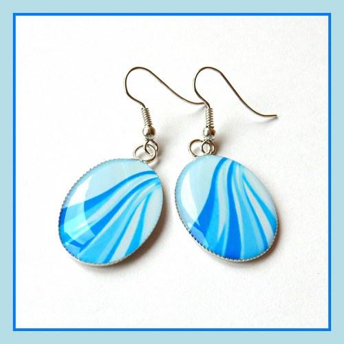 Náušnice modré vlny