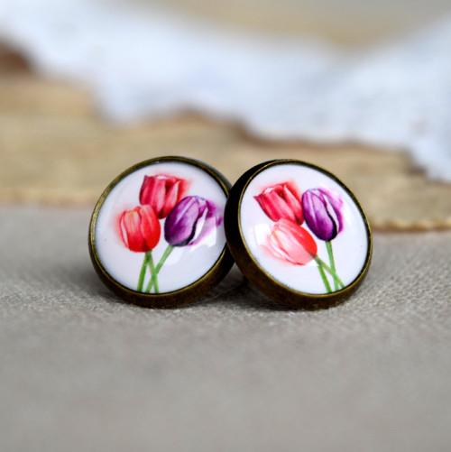 Tulipány-pecky(starobronz)