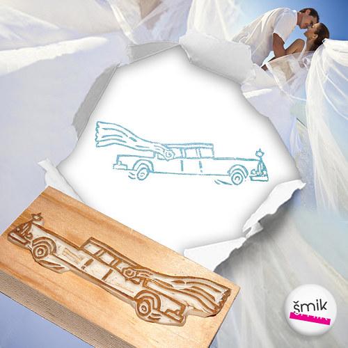 svatební limuzína – razítko