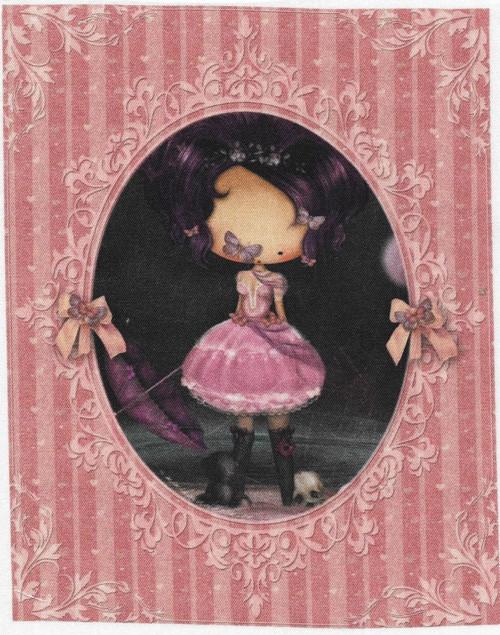 bavlněná látka - panel 15 x 16,5 cm