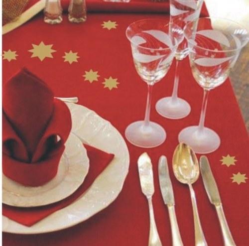 Zlaté hvězdičky pro váš sváteční stůl