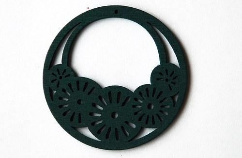 dřevěné kolečko-tmavě zelené
