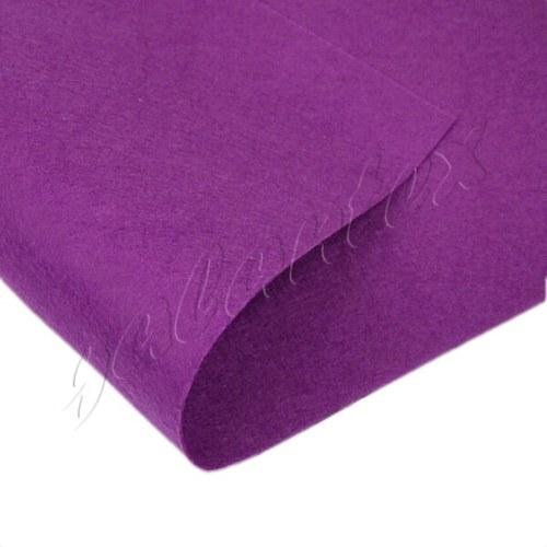 Dekorativní plsť / filc 20x30cm - fialová