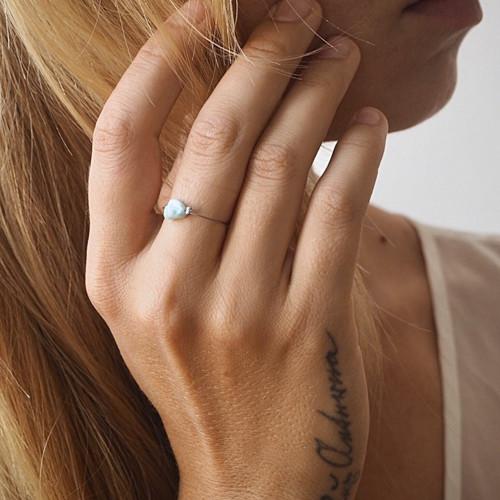 Minimalistické prsteny  MINERÁL, Ag 925/1000 