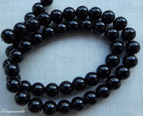 Černý Onyx lesklý 8mm