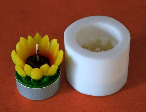 Silikonová forma na čaj. svíčku - Slunečnice