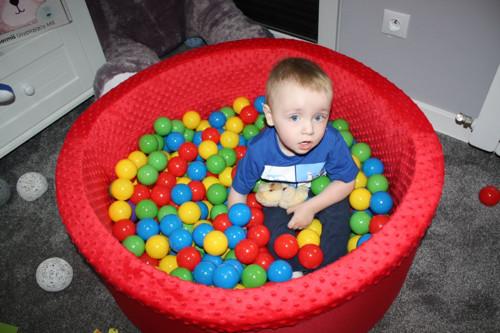 Suchý bazén kulatý 90 cm x výška 30 cm, červený