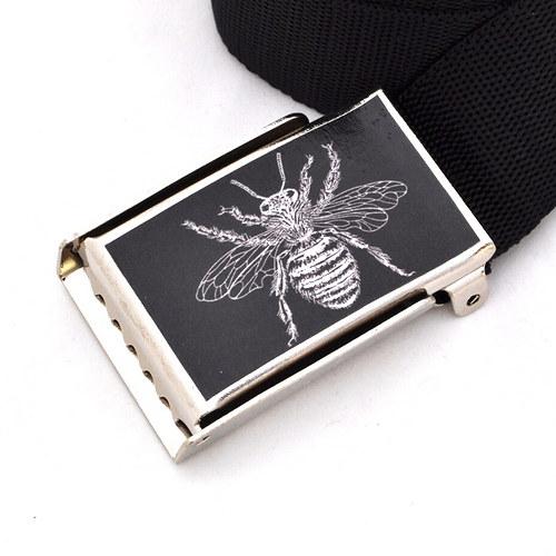 Dámský opasek do bokovek -včela černá