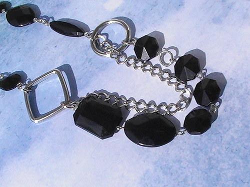 Sleva - Recy černý náhrdelník