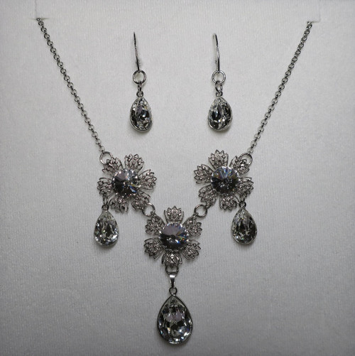 Frozen flowers-sada Swarovski crystals