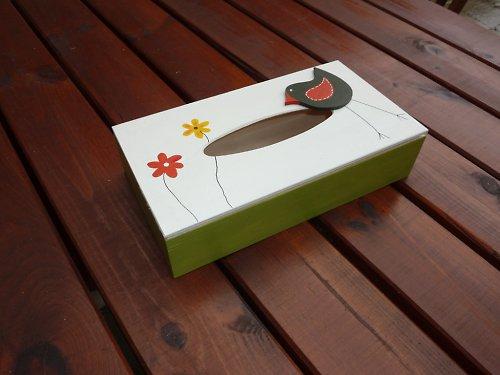 Krabička na kapesníčky PTAČÍ CVRLIKÁNÍ