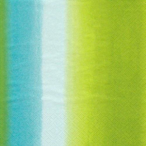 Ubrousek - zelené a tyrkysové pruhy