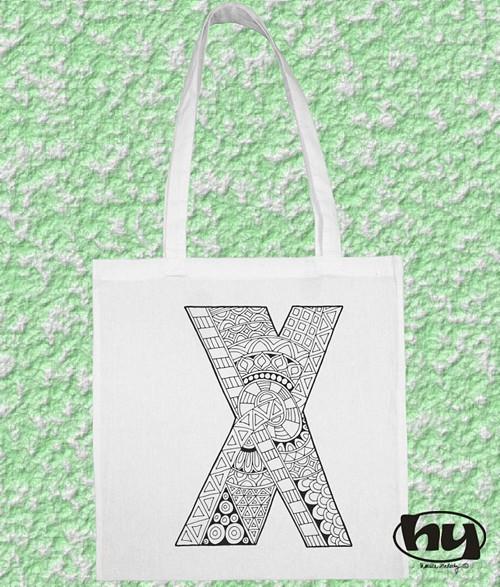 """Písmeno \""""X\"""" - taška k domalování"""