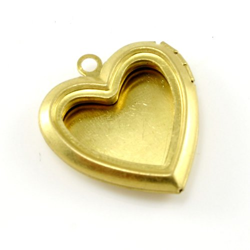 Zlatý otevírací medailonek - srdce s rámečkem