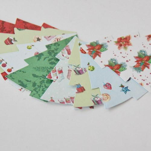 Papírový výsek - stromek malý