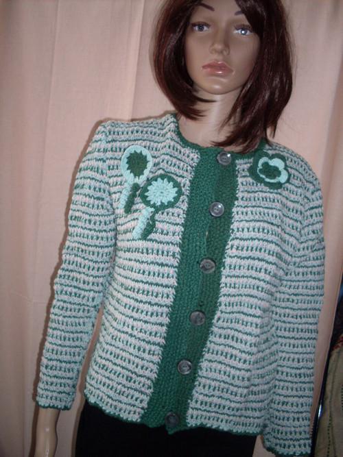 Pletené sako-svetřík