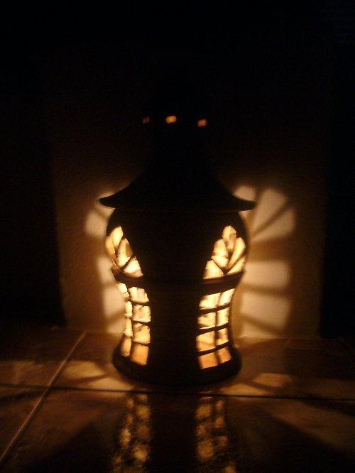 Lampa s krásným světelným efektem