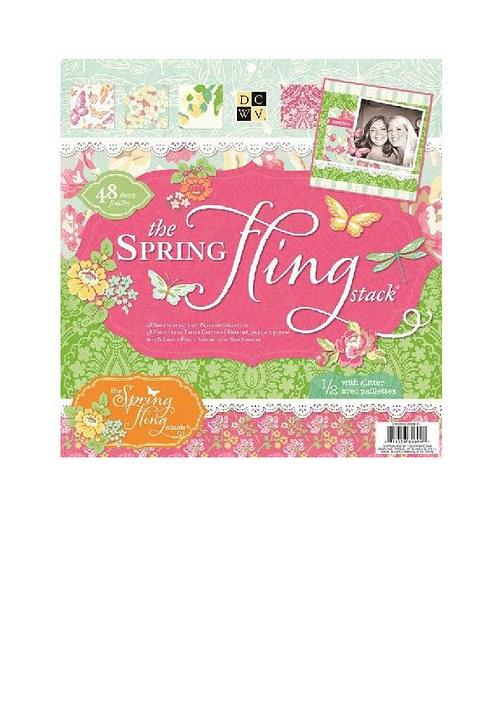 Sada papírů 30x30 spring fling