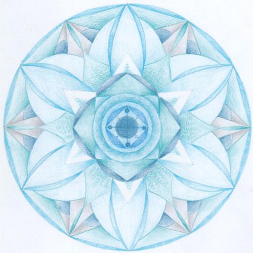 Mandala - 5.čakra - krční