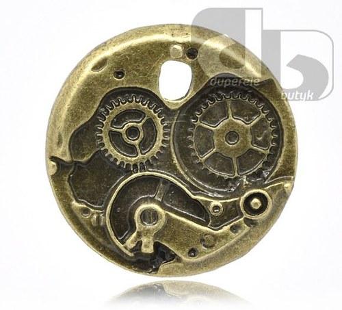 Bronzový přívěšek - hodinkový strojek 25mm 1 ks