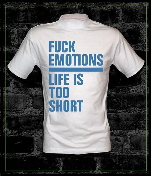 Pánské bílé tričko Fuck Emo.