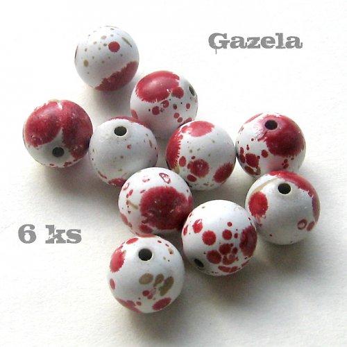 Kulička dalmatin červená - 6 ks