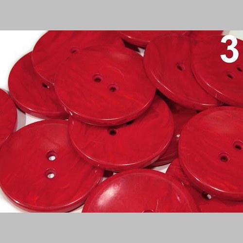 "Knoflík PEARL vel. 60\"" (bal. 5 ks) - červená"