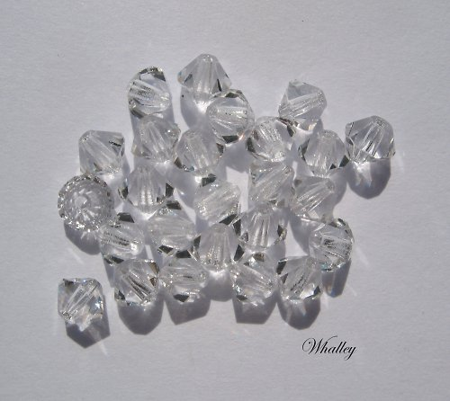 Korálky Cínovky Crystal 4 mm 20ks