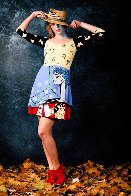 Originální, ručně malované šaty Pablo Picasso