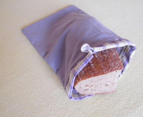 Pytlík na chleba šedý 30x19
