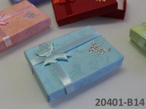 20401-B14 Dárková krabička nízká 5/7/1.5 SV.MODRÁ