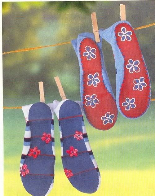 Ponožko - stop - protiskluzové médium fialová