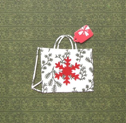 Vánoční dárková taška s visačkou