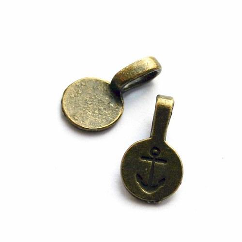 šlupna bronz k lepení 5ks