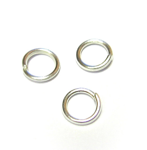 Kroužek 8 mm - stříbrný - 3300 ks