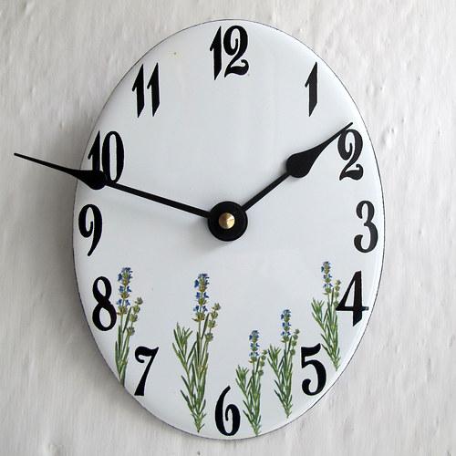 Smaltované hodiny 254