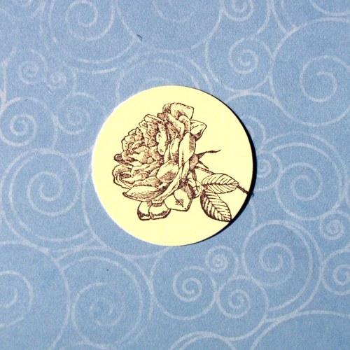 Růžička (inkoust. otisk)