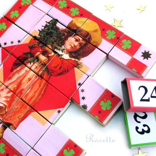 Cesta do vánoc - obrázek pro výrobu adv.kalendáře