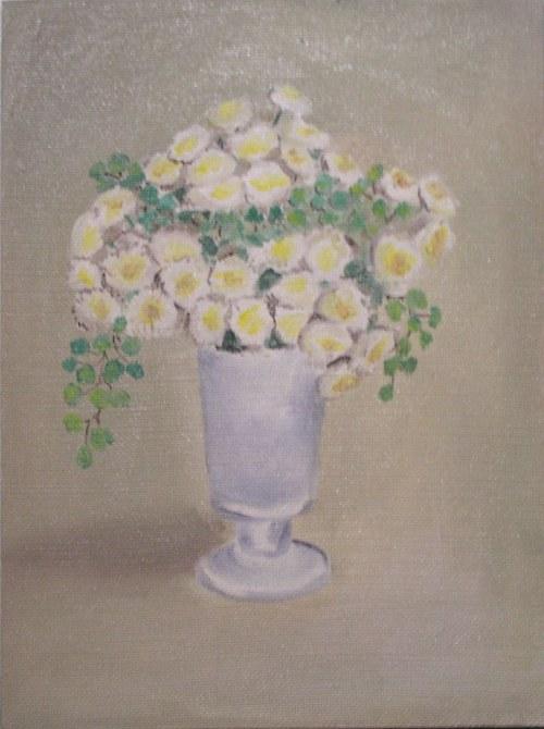 Bílé květy jemnost
