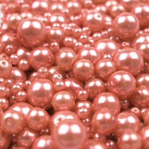 Mix perliček, 4-12mm, Losos, 45 g