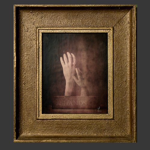 Foto-grafický obraz Ruce