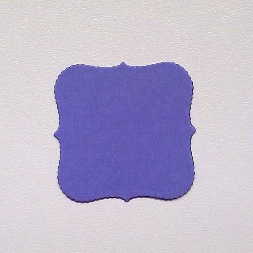 Štítek závorkový čtverec - barva podle přání